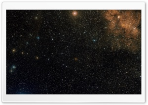 Stars Field and Nebula HD Wide Wallpaper for Widescreen