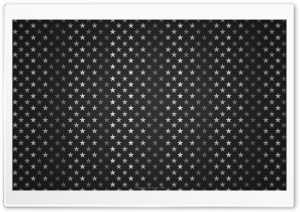 Stars Pattern Black And White HD Wide Wallpaper for Widescreen