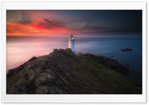 Start Point Lighthouse, England Ultra HD Wallpaper for 4K UHD Widescreen desktop, tablet & smartphone