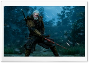 Startled Geralt On the Road Ultra HD Wallpaper for 4K UHD Widescreen desktop, tablet & smartphone