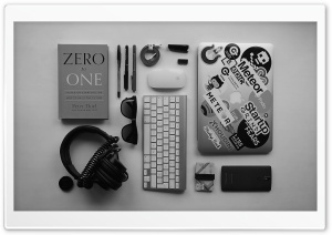 Startup Office Desk HD Wide Wallpaper for Widescreen