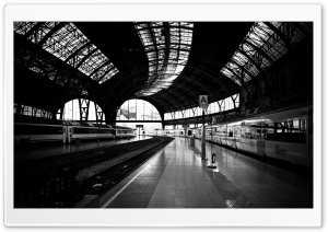 Station Black And White HD Wide Wallpaper for Widescreen