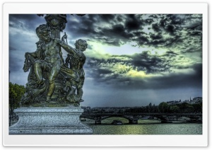 Statuary of Angels HDR HD Wide Wallpaper for Widescreen
