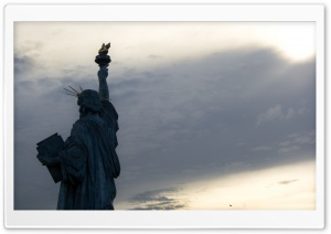 Statue de la Liberte Paris HD Wide Wallpaper for 4K UHD Widescreen desktop & smartphone