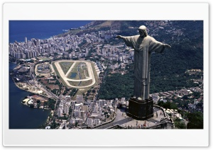 Statue of Christ the Redeemer, Rio de Janeiro, Brazil HD Wide Wallpaper for Widescreen
