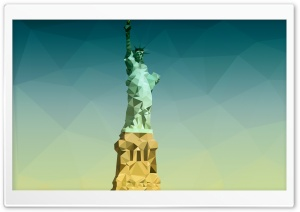 Statue of Liberty - Low Poly HD Wide Wallpaper for Widescreen