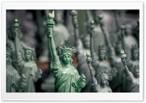 Statue Of Liberty Closeup HD Wide Wallpaper for 4K UHD Widescreen desktop & smartphone