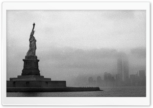 Statue Of Liberty Vintage Photography HD Wide Wallpaper for Widescreen