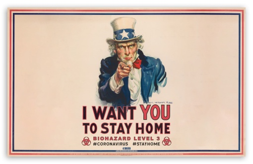stay at home biohazard warning wallpapers
