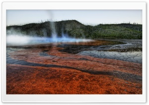 Steam Tornado, Yellowstone HD Wide Wallpaper for Widescreen