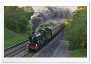 Steam Train, England HD Wide Wallpaper for Widescreen