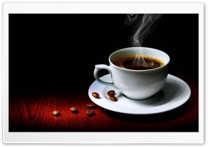 Steaming Cup Of Coffee HD Wide Wallpaper for 4K UHD Widescreen desktop & smartphone