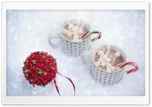 Steaming Mug of Hot Chocolate, Winter HD Wide Wallpaper for Widescreen