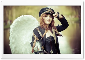 Steampunk Angel HD Wide Wallpaper for Widescreen