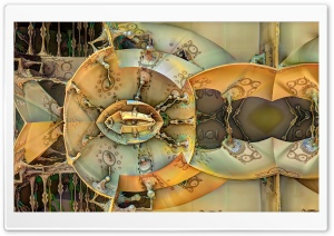 Steampunk Fractals HD Wide Wallpaper for Widescreen