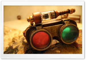 Steampunk Glasses HD Wide Wallpaper for Widescreen