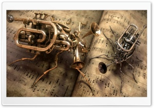 Steampunk Music HD Wide Wallpaper for Widescreen