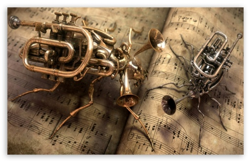 Steampunk Music 4k Hd Desktop Wallpaper For 4k Ultra Hd Tv