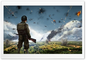 Steel Division Normandy 44 Video Game Concept Art HD Wide Wallpaper for Widescreen
