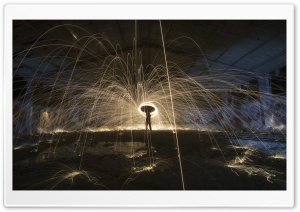 Steel Wool Spinning Ultra HD Wallpaper for 4K UHD Widescreen desktop, tablet & smartphone