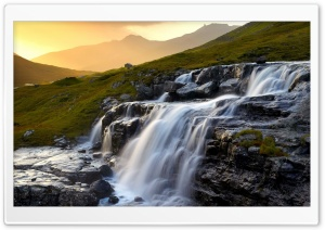 Stepped Waterfall HD Wide Wallpaper for Widescreen