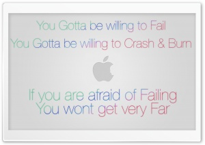 Steve jobs - on Failure HD Wide Wallpaper for Widescreen