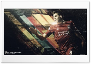 Steven Gerrard HD Wide Wallpaper for Widescreen