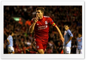 Steven Gerrard Liverpool 2010 Ultra HD Wallpaper for 4K UHD Widescreen desktop, tablet & smartphone