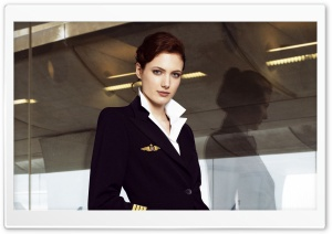 Stewardess HD Wide Wallpaper for Widescreen