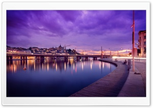 Stockholm At Night HD Wide Wallpaper for 4K UHD Widescreen desktop & smartphone