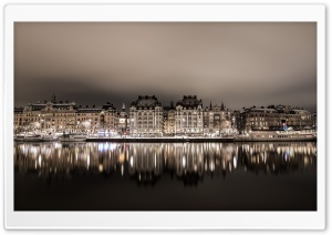 Stockholm Night HD Wide Wallpaper for Widescreen
