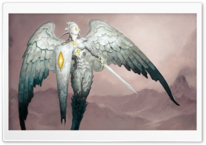 Stone Angel Art HD Wide Wallpaper for Widescreen