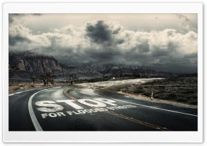 Stop for Flooded Streets HD Wide Wallpaper for Widescreen