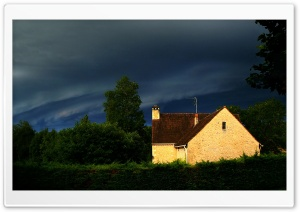 Storm   Dordogne, France HD Wide Wallpaper for Widescreen