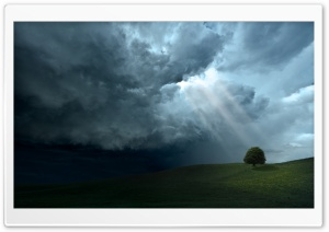 Storm Cloud Sun Rays HD Wide Wallpaper for Widescreen