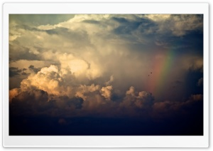 Storm Clouds And Rainbow HD Wide Wallpaper for Widescreen