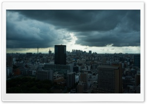 Storm Clouds In Tokyo HD Wide Wallpaper for Widescreen
