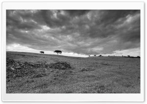Storm Clouds, Landscape, Black and White HD Wide Wallpaper for Widescreen