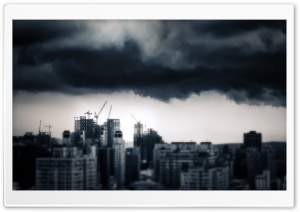 Storm Over Taichung HD Wide Wallpaper for Widescreen