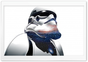 Stormtrooper Sees The Stars HD Wide Wallpaper for 4K UHD Widescreen desktop & smartphone