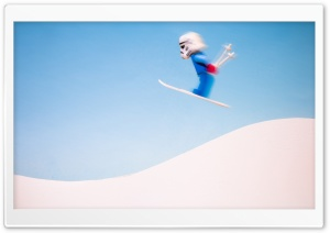Stormtrooper Skiing HD Wide Wallpaper for Widescreen