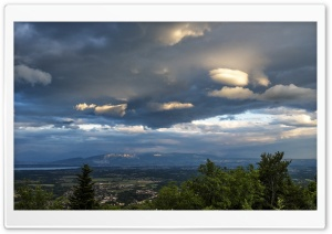 Stormy Clouds over Gex, France HD Wide Wallpaper for Widescreen