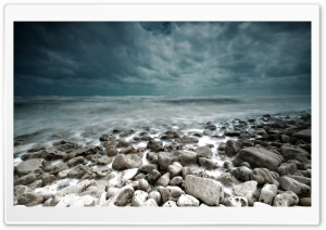 Stormy Sea HD Wide Wallpaper for Widescreen