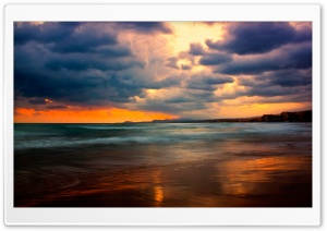 Stormy Sunset HD Wide Wallpaper for Widescreen