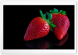 Strawberries On Black Background HD Wide Wallpaper for 4K UHD Widescreen desktop & smartphone