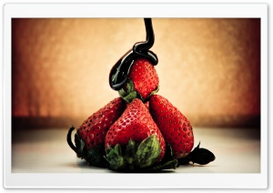 Strawberry And Chocolate HD Wide Wallpaper for Widescreen