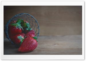 Strawberry Basket HD Wide Wallpaper for Widescreen