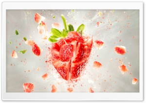 Strawberry Explosion Ultra HD Wallpaper for 4K UHD Widescreen desktop, tablet & smartphone