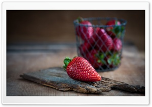 Strawberry Macro Ultra HD Wallpaper for 4K UHD Widescreen desktop, tablet & smartphone