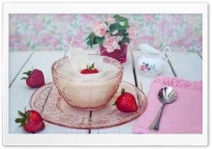 Strawberry Milk Splash HD Wide Wallpaper for 4K UHD Widescreen desktop & smartphone